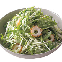 水菜とちくわのチーズサラダ