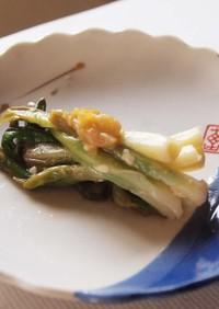 箸休め:あさつき酢味噌和え梅風味