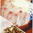 鯛の刺し身と鯛の湯引き