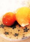 冷凍卵の醤油漬け