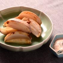 焼きレンコンの海苔明太ソース