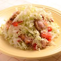カリカリチキンの柚子胡椒サラダ