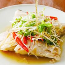 レンジ蒸し魚