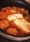 簡単☆炊飯器☆キムチ鍋☆一人暮らしの味方