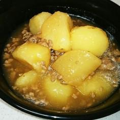 麺つゆで!大根とじゃがいもの簡単そぼろ煮
