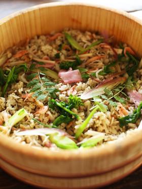春◎菜の花と山菜のおもてなし混ぜご飯