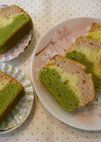 お花見にも♪3色のパウンドケーキ