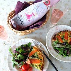 春野菜とサーモンのキッシュ