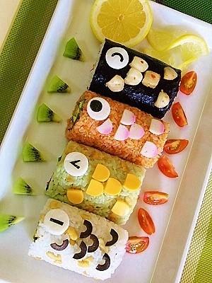 鯉のぼり巻き寿司♪子どもの日☆端午の節句