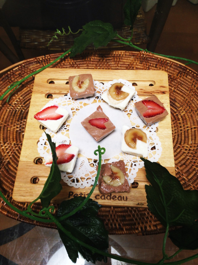 製氷皿!でWチョコレアチーズケーキ☆