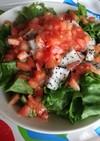 ドラゴンフルーツの最高の食べ方☆サラダ
