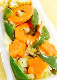 春野菜のえび塩アーリオオーリオ焼きそば♪