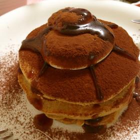ほろ苦朝食♡簡単ティラミスパンケーキ