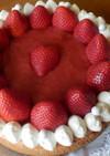 ❤苺と練乳のベイクドチーズケーキ❤