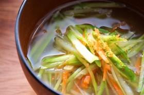 春色千切り野菜スープ