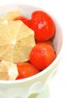 マヌカハニーで、トマトのはちみつレモン