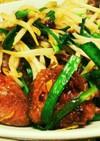 鶏レバニラ炒め