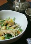 水菜の味噌マヨサラダ