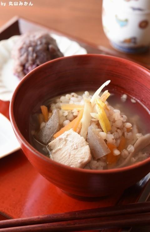 徳島の郷土料理☆そばごめ汁
