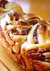 あん食パン~黒糖きな粉粒あん三つ編みパン