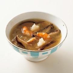 エビとシイタケのスープ