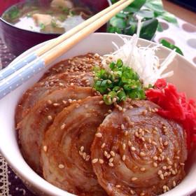 豚バラスライスチャーシュー丼