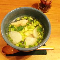 かぶととり肉のスープ