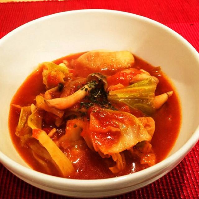たっぷり野菜とチキンのトマト煮こみ☆