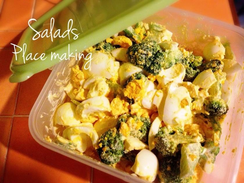 作り置きサラダ〜ブロッコリー卵マヨ!