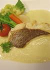 真鯛のポワレ コールラビのソース