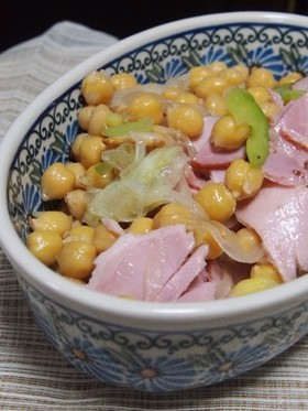 ひよこ豆とセロリのサラダ