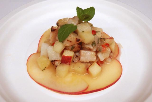 りんごとホタテと長芋の カルパッチョ