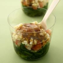 雑穀とおひたしのカップサラダ