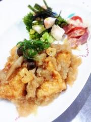 豆腐ステーキ おろしポン酢ガーリックの写真
