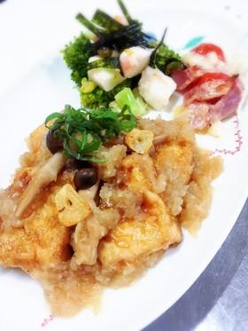 豆腐ステーキ おろしポン酢ガーリック