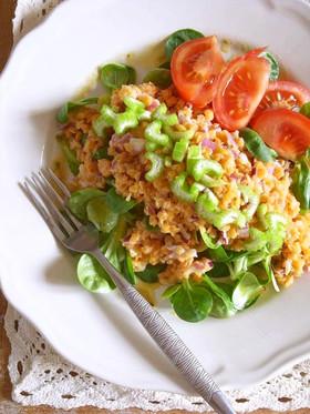 【家ビストロごはん】再現レンズ豆のサラダ