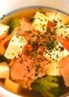糖質制限!レンジで野菜スープ(朝ごはんに