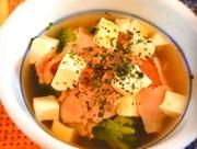 糖質制限!レンジで野菜スープ(朝ごはんにの写真