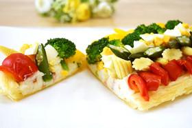 彩り野菜のパイサラダ♪2色のソースで