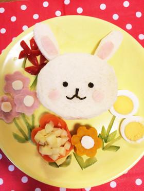 離乳食orキャラ弁☆うさぎのサンドイッチ