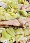 フライパンで鮭のホイル焼き