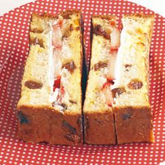 クリームチーズといちごサンドのフレンチトースト