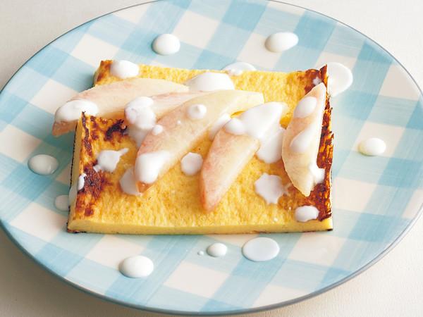 桃ヨーグルトフレンチトースト