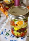 メイソンジャー☆チキンと豆のパスタサラダ