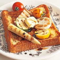 グリル野菜フレンチトースト