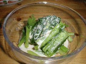 ◆青菜ナツメグソース◆