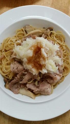 ★豚肉とエリンギのおろしスパゲティ★
