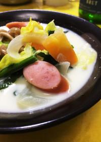 春野菜たっぷりのミルク味噌汁