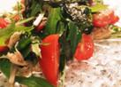 ツナ(シーチキン)とトマトで水菜サラダ