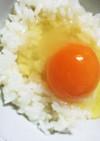 冷凍卵の卵かけごはん